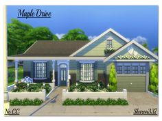 Maple Drive is a Family home built on a 30 x 20 lot in Willow Creek. It has 3 Bedrooms (1 Adult and 2 Girls Rooms), 2 Bathrooms, Kitchen/Dining Room, Living Room and Garage. In the back garden...