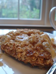 Baked Banana Oatmeal - This is fantastic.  I used the parchment paper option and cut down the parchment paper so that it wouldn't burn when the oatmeal is broiled at the end.  I also drizzled a little honey on the top just before it was served.