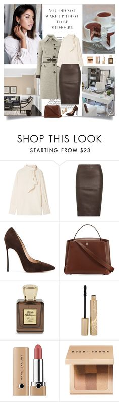 """""""You did not wake up today to be mediocre"""" by danniss ❤ liked on Polyvore featuring Joseph, By Malene Birger, Casadei, Valextra, Bella Bellissima, Stila, Marc Jacobs, Bobbi Brown Cosmetics and Laura Lombardi"""