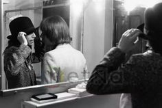 Fred Smith and Patti Smith in the dressing room after PSG concert Masoinc Auditorium June 16, 1978 © Robert Matheu / Retna Ltd **** HIGHER RATES APPLY ****