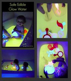 Safe and Play Glow Water For Baths