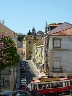 tram in lisbon portugal Lisbon Tram, Lisbon Portugal, Europe Travel Tips, Us Travel, Top Site, Day Trips, Night Life, Street View, City