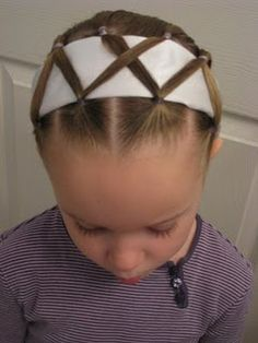 Dressed up Headband -- how to keep a headband in place.