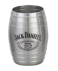Jack-Daniels-Whiskey-Barrel-Shot-Glass-Stainless-Steel-Old-No-7-Brand-New
