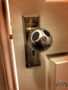 OMG!!!! NEED this!!!!! Jack Skellington Door Knob and Mortise Lock Set with Key, Nightmare Before Christmas, Tim Burton