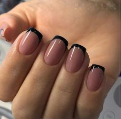 French Tip Acrylic Nails, Best Acrylic Nails, French Nails, Dark Gel Nails, Dream Nails, Love Nails, Gorgeous Nails, Pretty Nails, Neutral Nails