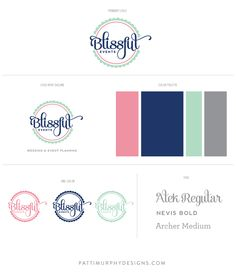 Logo design for Blissful Events by Patti Murphy