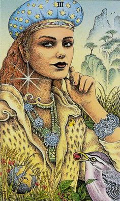 COSMIC tarot -  III - The Empress: Author and Artist: Norbert Lösche 1999