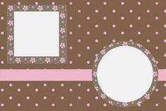 Brown and Pink Polka Dots Free Printable Invitations.