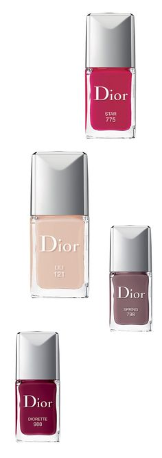 Discover Dior's latest shades of nail lacquer, including their latest product, Dior Vernis Gel Shine & Long Wear. #ManicureMonday #Beauty