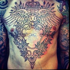 382 best Chest Piece Tattoos images on Pinterest | Chest piece ...