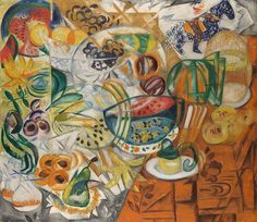Still Life with Fruit (Natalia Goncharova, Cubist Art, Abstract Art, Silver Poem, Russian Avant Garde, Figurative Kunst, Avant Garde Artists, Still Life Fruit, Wassily Kandinsky, Botanical Illustration