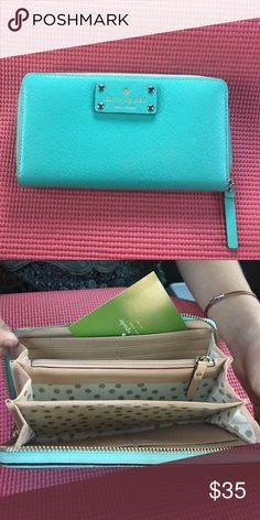 Kate Spade wallet Slightly used, baby blue color kate spade Bags Wallets