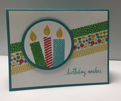 Birthday Card Ideas : Build a Birthday Stamp Set Cherry on Top Washi Tape Hand Made Greeting Cards, Making Greeting Cards, Greeting Cards Handmade, Stampin Up Karten, Stampin Up Cards, Homemade Birthday Cards, Homemade Cards, Card Making Inspiration, Making Ideas