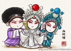白蛇传 Chinese Opera, Chinese Art, Chinese Picture, Logo Character, Oriental Design, Cute Chibi, Chinese Painting, Character Illustration, Asian Art