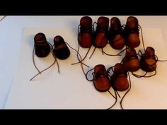 раскрой и изготовление ботинок для кукол - YouTube