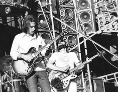 https://flic.kr/p/6v3ifh | Bob Weir, Phil Lesh of the Grateful Dead - Day On The Green - 6/8/74 Oakland-Alameda County Coliseum, Oakland, California [copyright unknown]