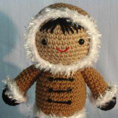 Amigurumi Eskimo Doll Crochet Pattern van eureekaswindow op Etsy, $6.00
