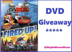 """Enter To #Win """"Blaze and the Monster Machines: Fired Up!"""" DVD #Giveaway 9/7"""