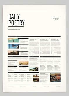 graphic design, web design, editorial, daili poetri, behance, layout design, poster, graphics, poetry