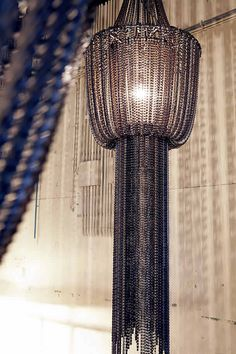 Bicycle chain chandeliers by Lolo Palazzo | Please subscribe to my weekly newsletter at upcycledzine.com ! #upcycle