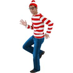 Where's Waldo?  Red striped shirt available at Amazon.com