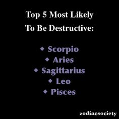Zodiac Signs: Top 5 Most Likely To Be Destructive