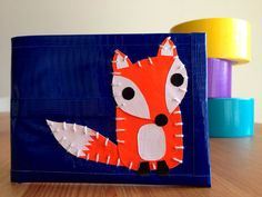 Fox Duct Tape Wallet - Blue Bifold on Etsy, $18.50