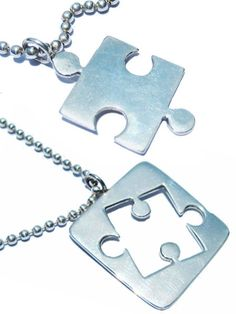 jigsaw puzzle necklace by Girls Telephone Boys on Etsy