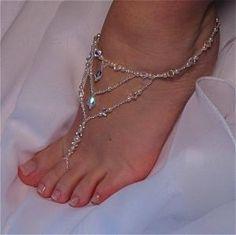 Barefoot Sandals, Bridal, Swarovski Crystal, Design #1 | TwoBeWedJewelry - Wedding on ArtFire