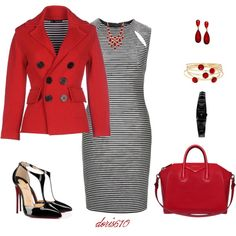 A fashion look from November 2015 by doris610 featuring Topshop, Dsquared2, Christian Louboutin, Givenchy, Karl Lagerfeld, Style & Co. and Liz Claiborne