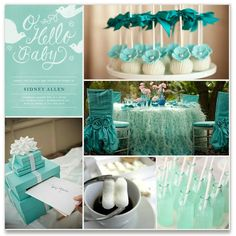 Hello Baby Teal Shower Inspiration