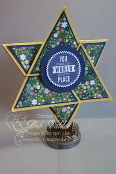 origami-triangle-star-card-starburst-sayings-waterolor-thank-you-stamp-set-starburst-framelit-all-is-calm-DSP-christmas-holiday-fun-fold-deb-valder-stampladee-stampin-up-1   Great Video