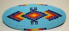 "Native American CREE Made Beaded Barrette 2""x4 3 4 Very Tight Beading | eBay"