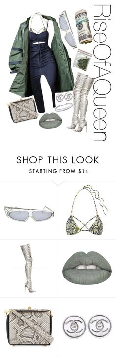 """""""Money x Drugs x Fenty"""" by riseofaqueen on Polyvore featuring Alain Mikli, L'Agent By Agent Provocateur, Puma, Alexander McQueen, Chanel and BERRICLE"""