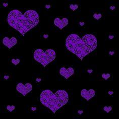 Glittery Purple Background | Backgrounds » Hearts » Dark Purple Hearts Background