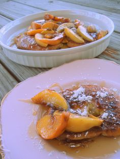 croissant french toast and roasted peaches | The City Julep