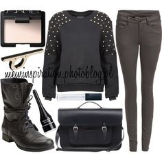 Black sweater outfit