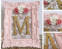 Pink and Gold Nursery Decor Decorative Letters by SeaLoveAndSalt