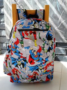 BAZINGA BACKPACK PDF Pattern by Flosstyle School size bag for books laptop optional extra pockets ~ fully lined ~ tidy finish Bag Patterns To Sew, Pdf Sewing Patterns, Sewing Tutorials, Sewing Crafts, Sewing Projects, Back To School Bags, Sewing School, Backpack Pattern, Craft Bags