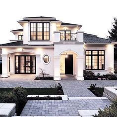 23 Best Modern Mediterranean Homes - For the Home - 23 Best Modern Mediterrane. - 23 Best Modern Mediterranean Homes – For the Home – 23 Best Modern Mediterranean Homes – - Style At Home, French Style Homes, Future House, Modern Mediterranean Homes, Mediterranean Architecture, Mediterranean House Exterior, Tuscan Homes, Dream House Exterior, Big Houses Exterior