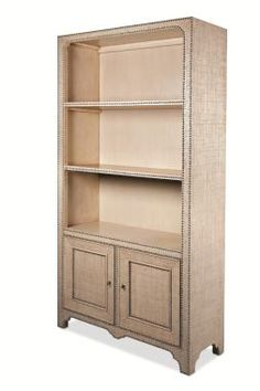 W: 43.25 in D: 16.50 in H: 84 in Fixed shelves + 1 adj. below. Century Furniture - Infinite Possibilities. Unlimited Attention ®Outside: