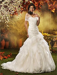 A-line Princess Sweetheart Tulle  Wedding Dress – CAD $ 503.58