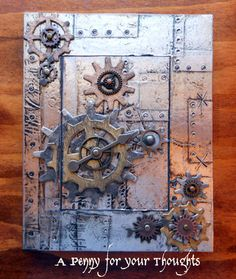 A Penny for your Thoughts: CC2C week 22: Steampunk faux altered book