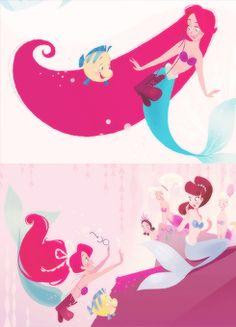 disney edit the little mermaid ariel books brittney lee Part of Their World