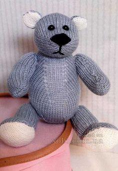 игрушка мишутка-малютка спицами