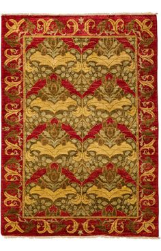 Darya Rugs Arts and Crafts Janelle Rug. Handknotted. Rugs USA.