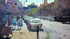 Painting a Street Scene Contre Jour - Watercolor Demo by Tim Wilmot #20