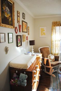 Favorite Nursery EVER! Love the colors and the eclectic vintage finds! LOVE!