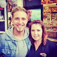 Joe Foster with Karen from Anysberg! Biltong, Deli, The Fosters